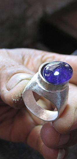 Banner cursussen - Zilversmeden - ring blauwe steen