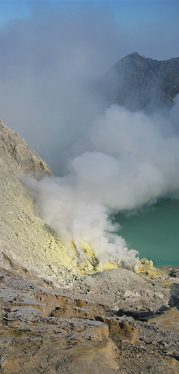 Banner home - Ijen vulkaan - 262 x 546 px